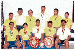 The winning team of Saanidhya Residential School and Training Centre for Mentally Challenged. DH Photo