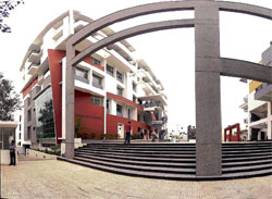 WELL-STOCKED: The CMRIT campus located in Kalyan Nagar