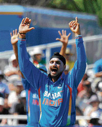 Central figure: Off-spinner Harbhajan Singh's form will have a telling impact on  India's campaign in the upcoming World Cup.