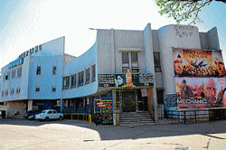 A view of Sterling and Skyline theatres at Vishweshwaraiah Industrial Suburb in Mysore. dh photo