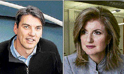 Timothy M Armstrong, Arianna Huffington. NYT
