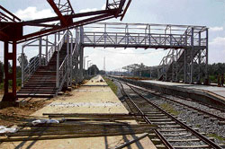 Preparations? Work in full flow to develop the Kolar Railway Station. dh photo