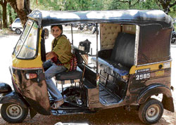 Sowmya in her auto. dh photo