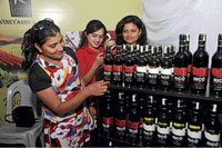 Interested: The festival aims at popularising wine among masses.
