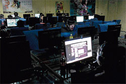 under close watch People use computers at an internet cafe in Beijing. Since protests began engulfing the Arab world, the Chinese government also started monitoring electronic communications. nyt