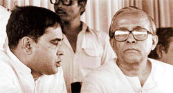 The late Jyoti Basu (right), who made West Bengal the Left bastion.