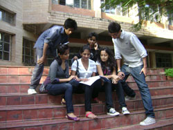 Enthusiastic: Youngsters are all set to take up internship.