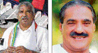 Oommen Chandy and  K M Mani