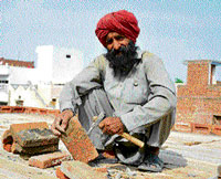 Jeet Singh works as a labourer at a construction site.