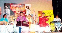 enthralling Rabindra Sangeet in progress.
