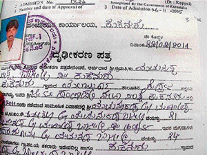 The certificate given by the Kuknoor Gram Panchayat as proof of age of a bride and groom. DH photo