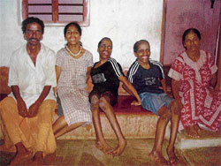 All three children of this family in Alankar village near Mangalore are lifetime victims of endosulfan. Photos by Author