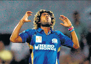 Mumbai Indians' pace bowler Lasith Malinga, the top wicket-taker in IPL IV so far, will have a vital role to play on Saturday against a resurgent Delhi Daredevils at the Wankhede stadium. AFP