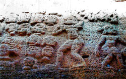 Proof: A sculpture of the act of beheading at the Mallikarjuna temple at Srishaila in Andhra Pradesh. DH Photo