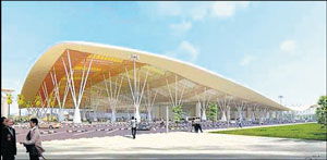 An artistic view of new terminal of BIA.