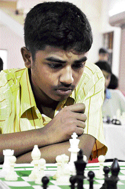 Young star : Karnataka's G A Stany excelled at the Asian Youth Chess meet recently. Stany picked up silver in the under-18 category.