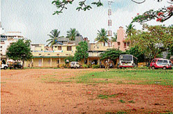 In distress: A view of the Devaraja Traffic Police Station, in Mysore. DH PHOTO