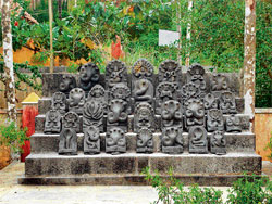 Epic connotations: The 31 forms of the serpent god found near the serene 'Yaksha Sarovara'.  Photos  by the author