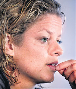 World number two Kim Clijsters was forced to pull out of Wimbledon with a foot injury. AP