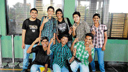Jubilant: The first year PUC students of the Indian Academy