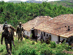 A file photo of naxals at a village in Chikmagalur.