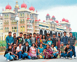 on learning mission: Wannabe artistes from Northeast India during their visit to Mysore. Dh photos by prashanth h g