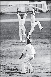 A slice of action from the first tied Test match in 1960.