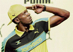 confidence personified: Usain Bolt strikes a pose after a press conference in Daegu on Thursday. reuters