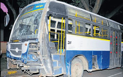 The driver of the bus is said to have had an epileptic attack which led to the accident. DH Photo