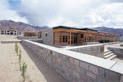 Drukpa White Lotus School in Ladakh, more popularly known as the Rancho school.