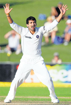 HUGE VOID:  The absence of Zaheer Khan hit India hard in the Test series against England.