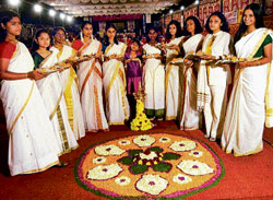 colourful Pookalam is an integral part of Onam celebrations.