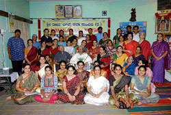 Trainees at the music camp organised at Sri Rama Lalithakala Mandira.