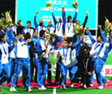 Newly crowned ASian Champions: Indian Hockey team