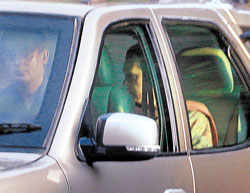 Thick of things: In this first photo of Sonia Gandhi since her return last week from the US after surgery, the Congress president is seen leaving her daughter Priyanka Vadra's residence in New Delhi on Wednesday. Indian Express Archive