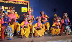 Colourful: Folk dancers from Orissa.