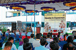 Being the change: 'Education to empowerment' programme at Theorem India in Mysore, recently. DH PHOTO