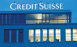 The Credit Suisse building in Zurich, Switzerland.