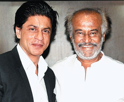 hale and hearty Rajinikanth's cameo role in Shah Rukh Khan's 'Ra.One', is the talk of the town.