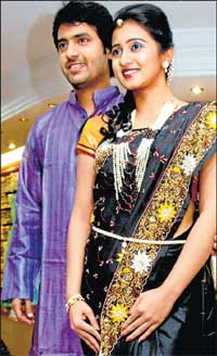 Elegant: Vishal and Harshika.