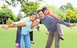 Balancing act: Parents must spend quality time with their children.