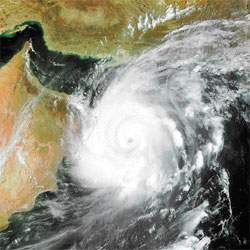 Power and fury Image of cyclone Gonu. Photo: NASA