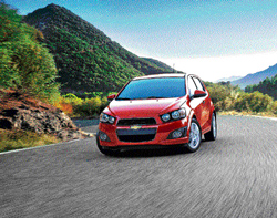 The new 2012 Chevrolet Sonic hatchback in an undated handout photo. The Sonic is offered in two forms: a four-door hatchback or four-door sedan, both assembled in Lake Orion, Michigan. NYT