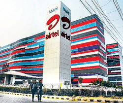 Airtel office in Gurgaon was raided by the CBI in connection with 2G scam,on Saturday. PTI