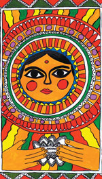 exclusive The themes of Mithila art range from deities to sacred plants.