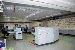 The state-of-the-art computerised control room at the unit one of Kudankulam Nuclear Power Project, from where is health and safety is continuously monitored. DH Photo
