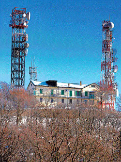 risky Radiation from mobile towers can be harmful.