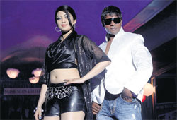 Glamour and machismo: Praneetha and Vijay in Jarasandha