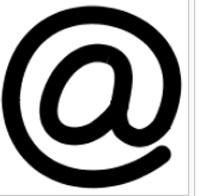 The at sign, a part of every SMTP email address. Wiki Photo