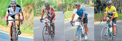 The cycle jatha organised by Ride A Cycle Foundation arrived at Madikeri on Sunday. DH Photo